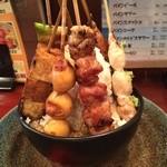 おんどり家 - 横須賀メガ盛りコンテスト出品メニュー「メガ串焼丼」