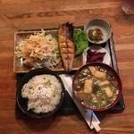 29517835 - 焼き鯖定食、ドリンク付き950円
