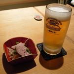 創和ダイニング 寛 - ビール&お通し (2009.12)