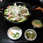 創和ダイニング 寛 - まぐろのステーキサラダ丼-1000円 (2011.5)