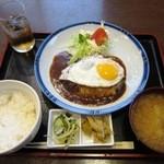 つくば屋 - 煮込みハンバーグ定食¥1000 ※税込価格