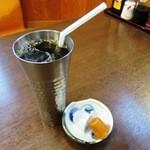 つくば屋 - ランチセットの「アイスコーヒー」