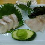 四ツ木製麺所 - ホッケ刺身