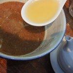 麺処 井の庄 - スープ割り