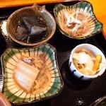和顔施 - 本日の惣菜3種と香の物