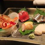 おず smoked和taste - その日の鮮魚5点盛り 1,400円