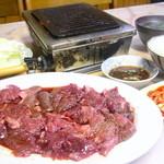 杉ホルモン - 焼肉定食トリプルで¥1,050