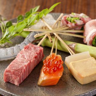 ♢おまかせコース♢でお好きな串をお好きなだけ!!