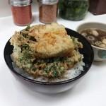 千曲そば - 春菊天丼 370円(2014.07)