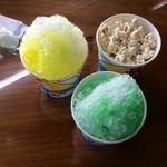 相原屋米店 - かき氷メロン、レモン、ポップコーンサービス