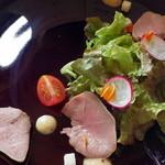 リストランテ フォレスタ・ヴェルデ - Antipasto/豚タンの自家製スモーク マスタードソース