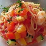 リストランテ フォレスタ・ヴェルデ - Primo Piatto 小海老と夏野菜の冷製アラビアータ
