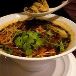 広味坊 - 麻辣麺(黒酢、ラー油、山椒) 1155円
