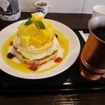 タイムカフェ - マンゴーパンケーキ(14年夏限定)