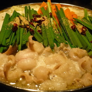 「玄海庵」のもつ鍋は野菜がたくさん入っており健康的です。