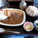 長尾 - 料理写真:カツカレーセット(冷たい蕎麦)-850円 (2010.11)