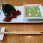 R style by 両口屋是清 - わらび餅フォンデュ 抹茶ソース