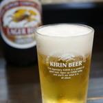 味処 さしすせそ - ドリンク写真:料理を待つ間は、絶対ビールですね!