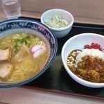 ラーメン+ハーフカレー丼セット700円≪2014年8月≫
