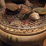 三崎漁師物語り - 【海御膳(3150円)】焼物。火鉢がデーン!