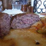 メープル - ハンバーグの断面