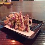 和琉酒菜 空 - 紅芋の天ぷら…まいう〜^_^
