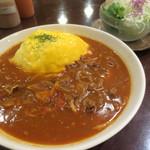 29584907 - 【再訪】2014/8・赤味噌オムハヤシセット¥1070(単品¥820)