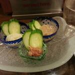 五島食堂マコイチ - イカ塩辛2種&鯛わた