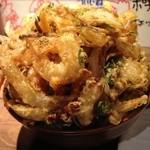 居酒屋 さんぼん木 - デカ盛りかき揚げ丼 (甘口丼ダレ) 680円 (2013.7.12)