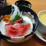 うな久 - 鯉の洗いとカニ豆腐