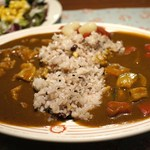 レストランアラスカ - 食べ放題  五穀米、野菜 & ポーク相掛け