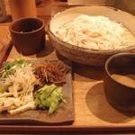 うどん山長 - Aug, 2014 きんぴら薬味おためしうどん 880円