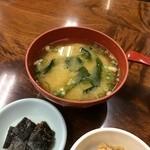 金時食堂 - わかめと、豆腐の味噌汁
