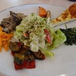 フルーツパーラー附木屋 - ランチの野菜タップリ前菜盛り合わせ