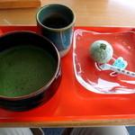 29600923 - 抹茶とお菓子(あまも)500円