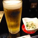 居酒屋 とうちゃんや - おビール(o'∀'o)