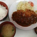 29605588 - とんかつ(ロース)定食@とんかつ味の店一番