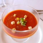 THE GUNJO RESTAURANT - トマトとパプリカのスープ