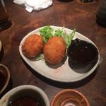 魚真 - カニクリームコロッケ680円
