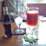 ななえ駅前珈琲店 - コーラとトマトジュース