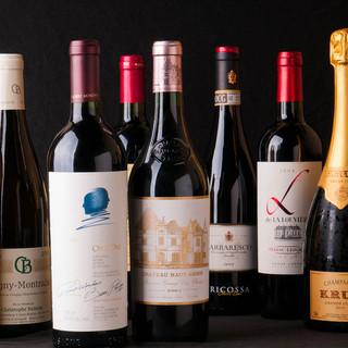 季節によって変わるメニューに合わせたワインを提供!