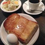 ドリヤード - トーストモーニング(タマゴ、サラダ両方)