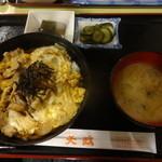 天政 - 鶏肉の卵とじ定食¥700☆