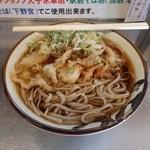 29613681 - 天ぷらそば。蕎麦が太い!