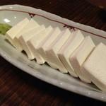 29614577 - 白山堅豆腐の刺身☆
