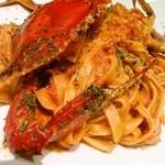 Bar 甑 - 人気のパスタ 渡り蟹のクリームパスタ