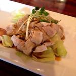 煌・中国料理 - A…豚肉のネギ山椒醤油かけ