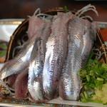 網元料理萬蔵丸 - 2014/8 いわしの刺身