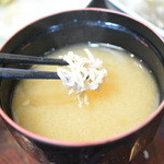 網元料理萬蔵丸 - 2014/8 しらすの味噌汁