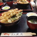 蛯天 - 料理写真:大えび天丼